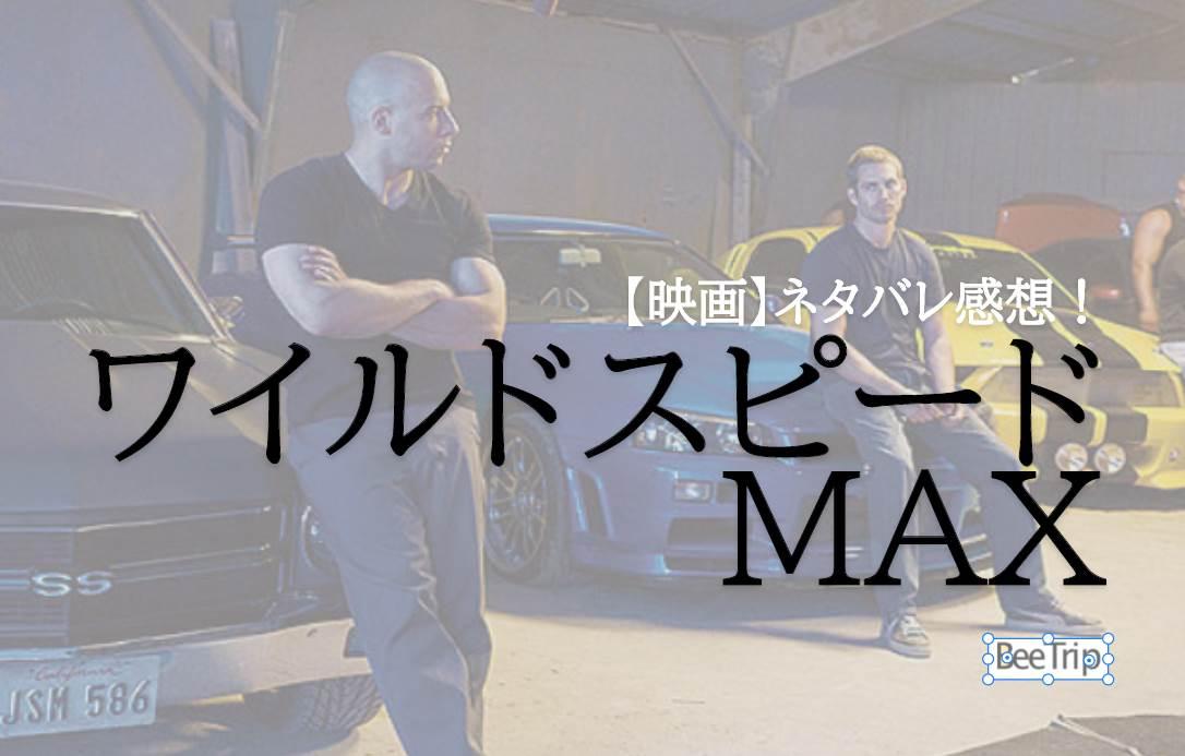 【ネタバレ感想】『ワイルド・スピードMAX』再びあの2人が帰ってきた!派手なカーチェイスが特徴の映画!